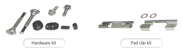 Hardware kit,  Pad clip kit